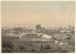Calcutta: view taken from the house of Thomas Graham in Chowringhee with Fort William and the Hooghly in the background. January or February 1803